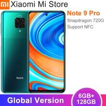 Versión Global Xiaomi Redmi Note 9 Pro Smartphone 6GB de RAM 128GB Snapdragon 720G Octa Core 64MP Quad Cámara NFC teléfono móvil