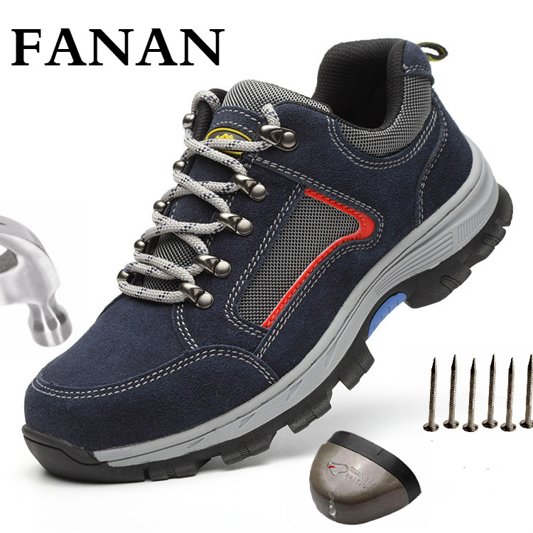 FANAN Work Safety Shoes with Steel Toe Cap  Big Size New Design Casual Reflective Sneakers Steel Mid Sole Men Boots Dropshipping