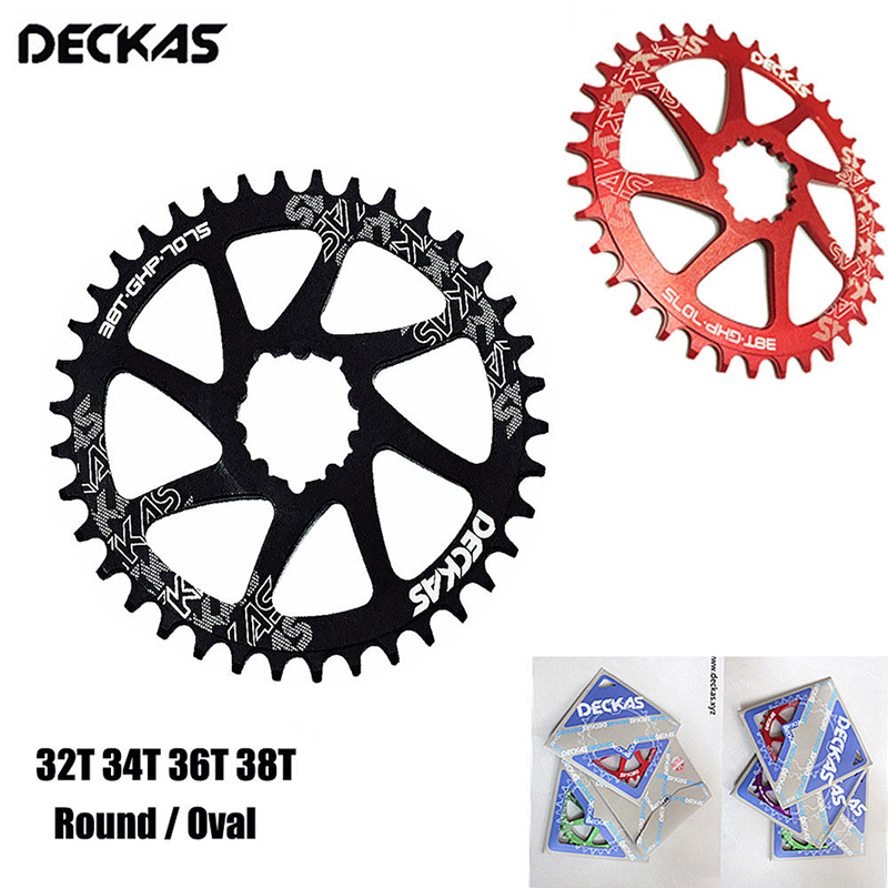 Deckas mtb chainring gxp oval anel de corrente redonda 32/34/36/38t chainwheel mountain bike estrada bicicleta sram gxp xx1 xo1 x1 gx xo x9