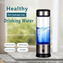 Portable Hydrogen Water Generator Health Cup Alkaline Maker Rechargeable for pure H2 hydrogen-rich water bottle electrolysis rechargeable usb hydrogen rich cup water ionizer generator bottle hydrogen alkaline h2 water maker 430ml
