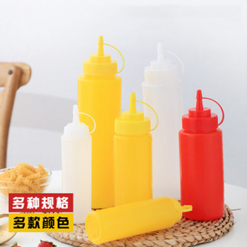Ketchup Olive Oil Condiment Squeeze Bottles Kitchen Accessories Plastic Condiment Dispense Kitchen Gadget Spice Tools image
