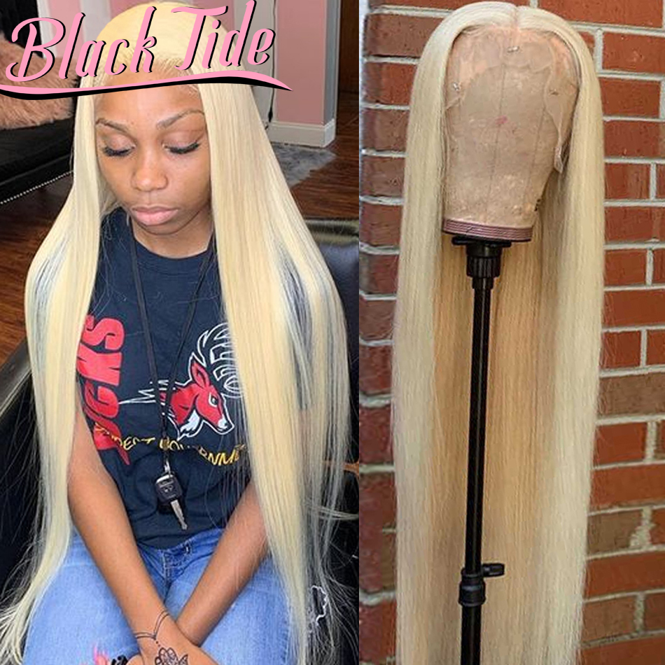 Straight Lace Front Wig 613 Lace Front Wig HD Transparent 150% Indian Remy 613 Lace Front Wig 13x6 Straight Human Hair Wigs 34