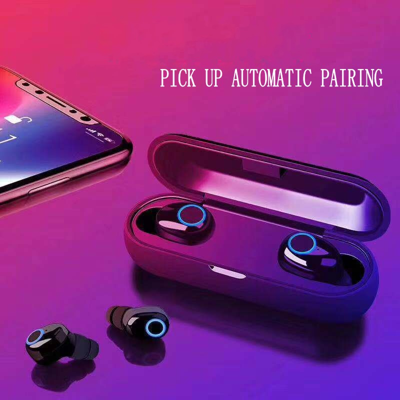 Q10 Bluetooth 5.0 Earphone <font><b>TWS</b></font> Stereo Wireless Earbus Sport Earphones vs <font><b>i9s</b></font> i12 i60 i80 i100 for iphone samsung <font><b>fone</b></font> de ouvido image