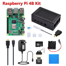 Original 4GB RAM Single Board Computer Raspberry Pi 4 Model B DIY Kit Pi 4B+ Full Kit with Cooling Fan+Heat Sink + 32GB Micro SD