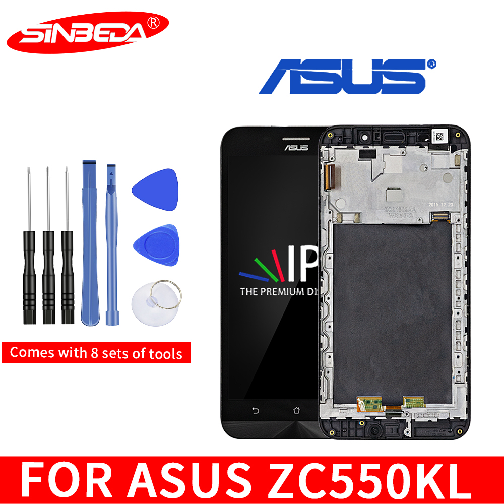 Original 5.5''For <font><b>ASUS</b></font> Zenfone Max ZC550KL <font><b>Z010DA</b></font> LCD Touch Screen Digitizer With Frame Assembly For Zenfone Max ZC550KL Display image