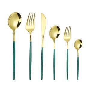 Набор столовой посуды из нержавеющей стали, нож, вилка, Европейский Западный пищевой нож для стейка, десертная ложка, кофейная ложка|Столовые сервизы|   | АлиЭкспресс