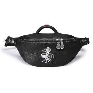 Image 5 - Orabird Streetwear bayanlar göğüs çanta yumuşak hakiki deri moda kadınlar Crossbody omuz çantaları küçük bel çanta telefonu cüzdanı