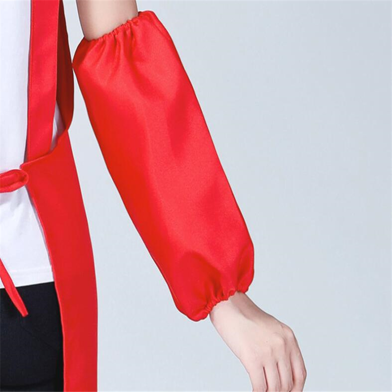 Polyester Oilproof Antifouling Arm Sleeves Waterproof Cleaning Oversleeve Home Kitchen Working Cooking Arm Protector