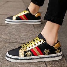 2019 new medusa leather embroidery board shoes net red men and women sh