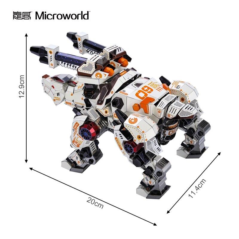 2020 nova microworld 3d metal puzzle urso 02