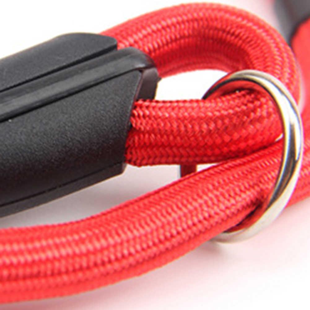 0.6/0.8/1cm trela de corda de tração de cão de estimação de náilon ajustável andando lead strap cão trela suprimentos para animais de estimação