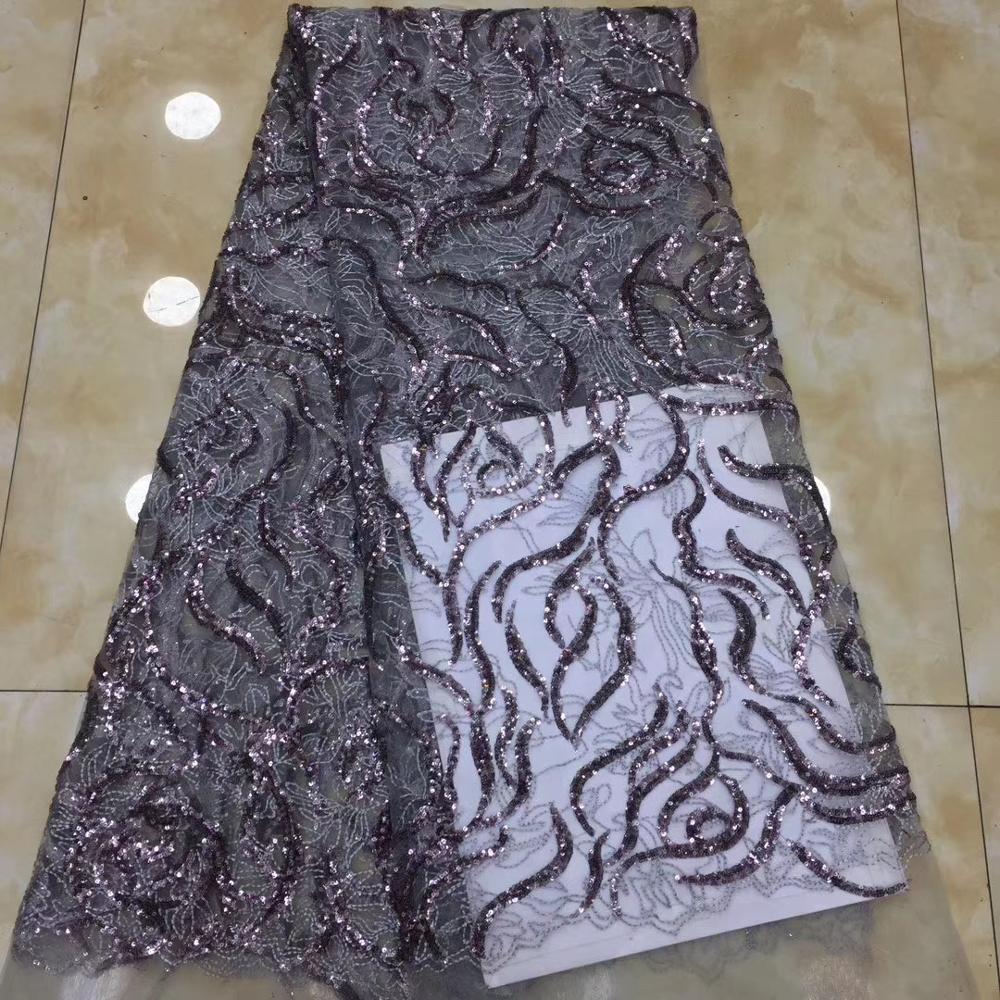 Hot Sale African Lace Fabric 2020 High Quality Tulle Lace Dress For Women Embroidery Sequins Lace Net French Lace Fabric TS9062
