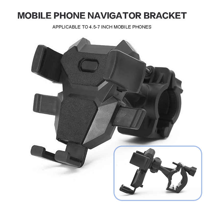 1 Buah Sepeda Gunung Sepeda Ponsel Pemegang Bracket ABS Auto-Lock Navigasi Dudukan Ponsel Bracekt Cocok untuk 4.5- 7 Inci Smart Phone