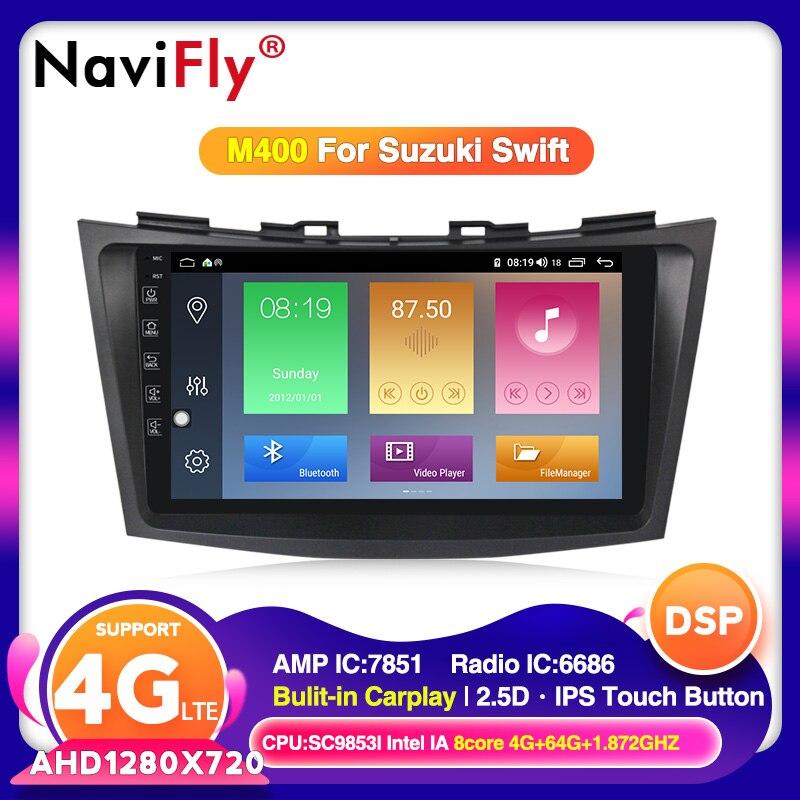 4G LTE Android 10 dla SUZUKI SWIFT 2010 2011 2012 2013 2014 - 2016 2017 multimedialne Stereo samochodowy odtwarzacz DVD odtwarzacz Radio nawigacja GPS BT