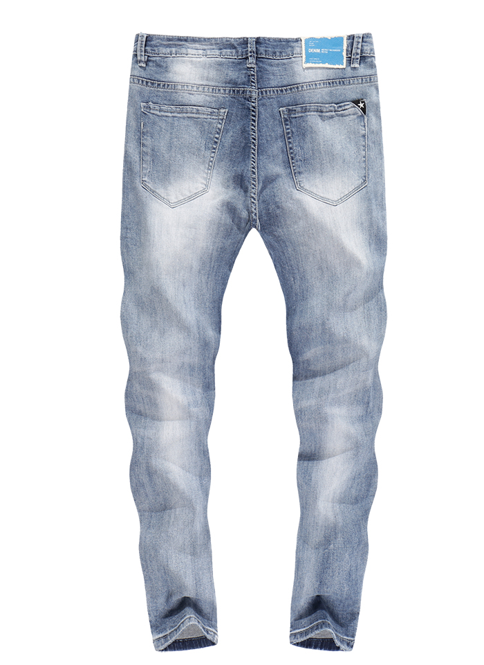 KSTUN Skinny Jeans Men White Stretch Ripped Jeans for Man Cropped Pants Distressed Frayed Streetwear Hip hop Moto Mens Tapered Jeans 12