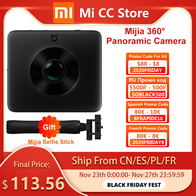 Xiaomi Camera-Kit Panorama-Camera Sphere Action 360 In-Stock 1600mah-View Sports Video-Recording
