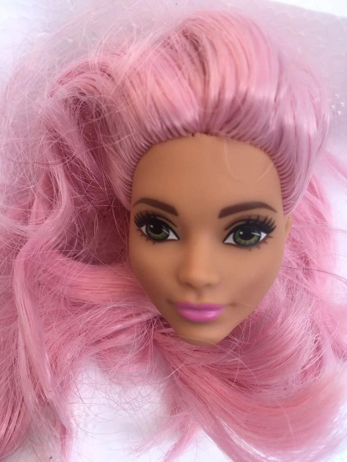 Rare Collection Doll Head 1/6 Doll Heads White Princess Asia Face Black Lady Doll Head Toy Girl DIY Figure Toys Girl Gifts