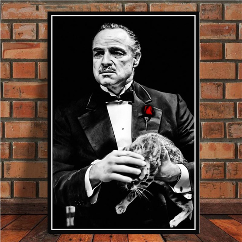 Posters and Prints The Godfather Movie Marlon Brando Al Pacino Poster Wall Art Picture Canvas Painting for Room obrazy plakat