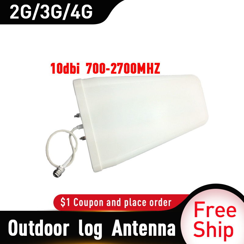 2G 3G 4G Antenna Outdoor 700-2700 Log Periodic External LPDA Antenna For Mobile Signal Repeater GSM Signal Booster 4G Amplifier