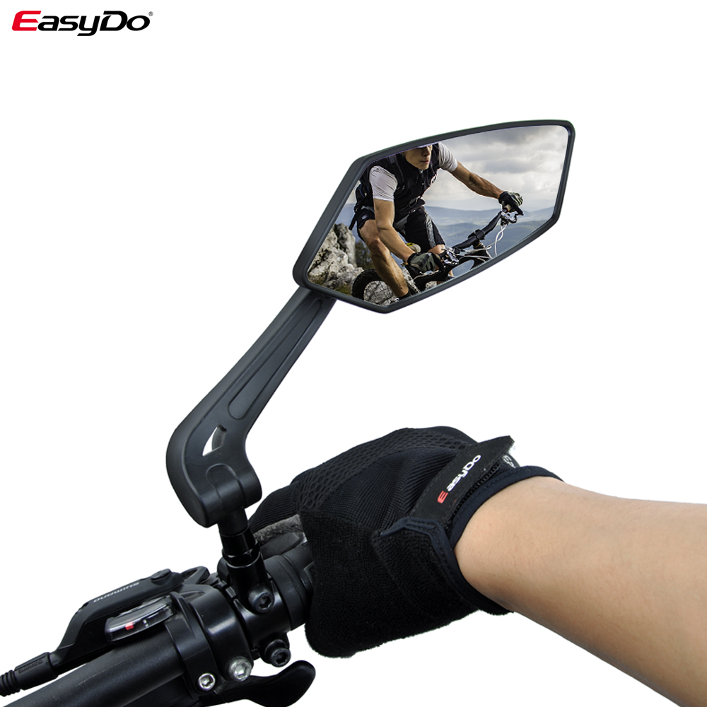 PromoteÃMirrors Reflector Bicycle Back-Sight Rear-View-Mirror-Bike Easydo Adjustable Left Wide-Range