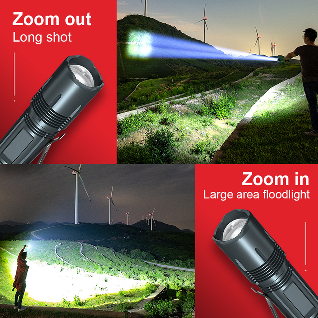 Cree Xhp50 Professional Tactical Flashlight 18650 Rechargeable Led Lantern Hunting Police Mini Flashlight usb Military Led Torch
