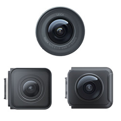 Insta360 ONE R Sports Action Camera Lens Mod 4K Wide Angle 360 Panoramic Dual Len Leica 1 Inch Wide Angle