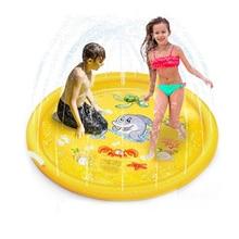 Spray Sprinkler Mat Children Water Toys Outdoor Lawn Garden Summer Swimming Pool Game Mat Dolphin Water Mat Birthday Gift AA60WM