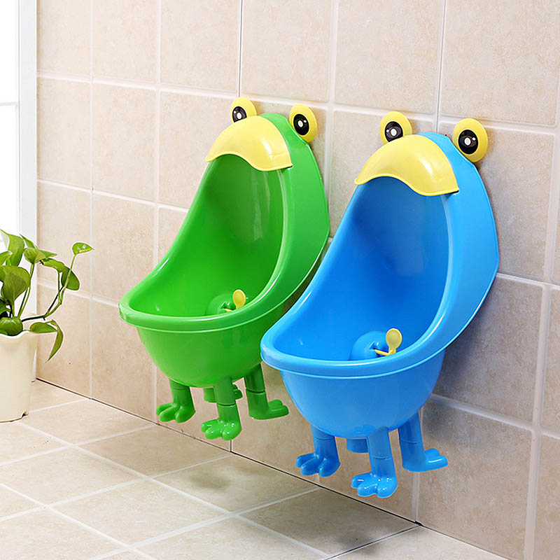Male Baby Standing Urinal Frog Shape Baby Potty Training Children Potty Standing Wall-mounted Urinals Toilet