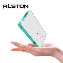 ALSTON Mini projector HD P8 DLP projector 80ANSI lumens easy to carry home 1080P projector with battery video beamer