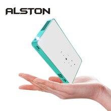 Alston Mini Projector Hd P8 Dlp Projector 80Ansi Lumen Gemakkelijk Te Dragen Thuis 1080P Projector Met Batterij Video beamer