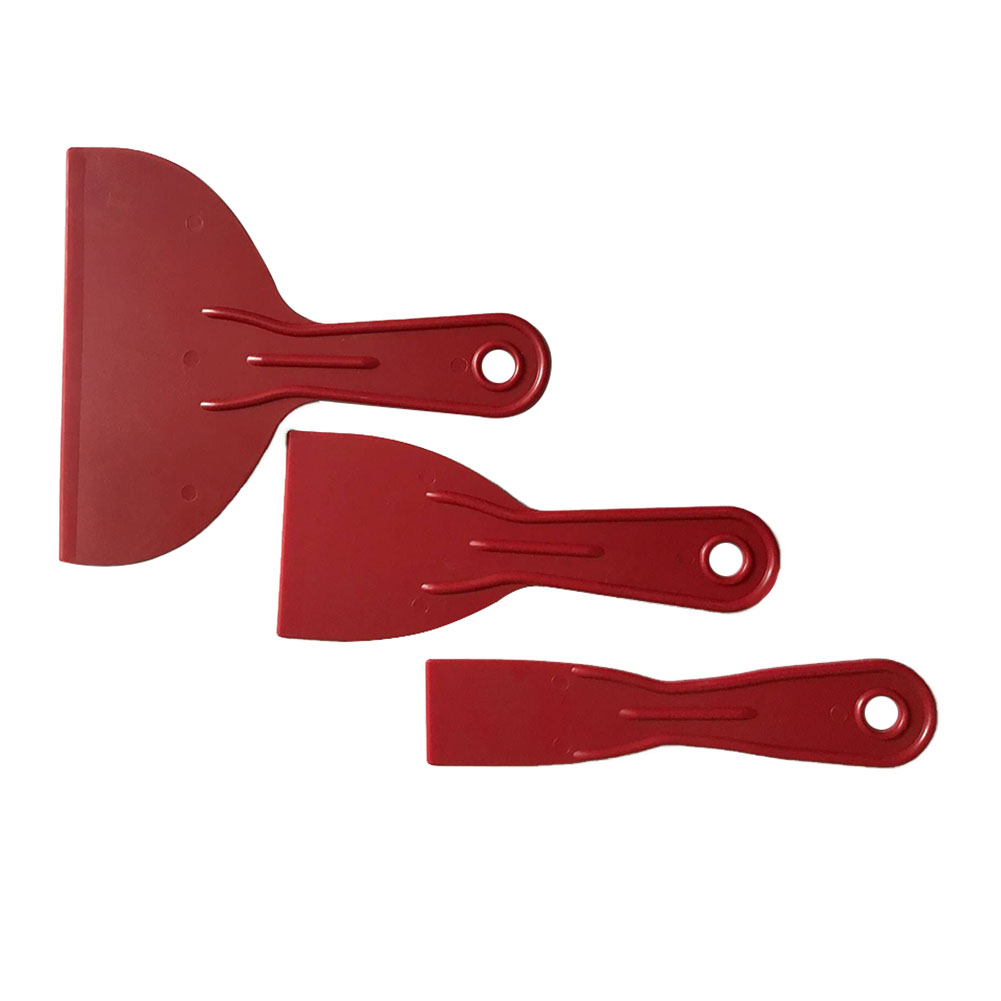 3pcs Job Done Spatula Putty Home Durable Reusable Spreader Filler Hand Tools Floor Construction Scraper Set Red Small Large Wall