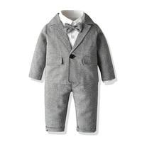 Gentleman Suit for Boy Clothing Set Coat/ Jacket Five Piece Suit Boy Dress Suit 2019 Handsome Kid Clothing For Boy Clothes
