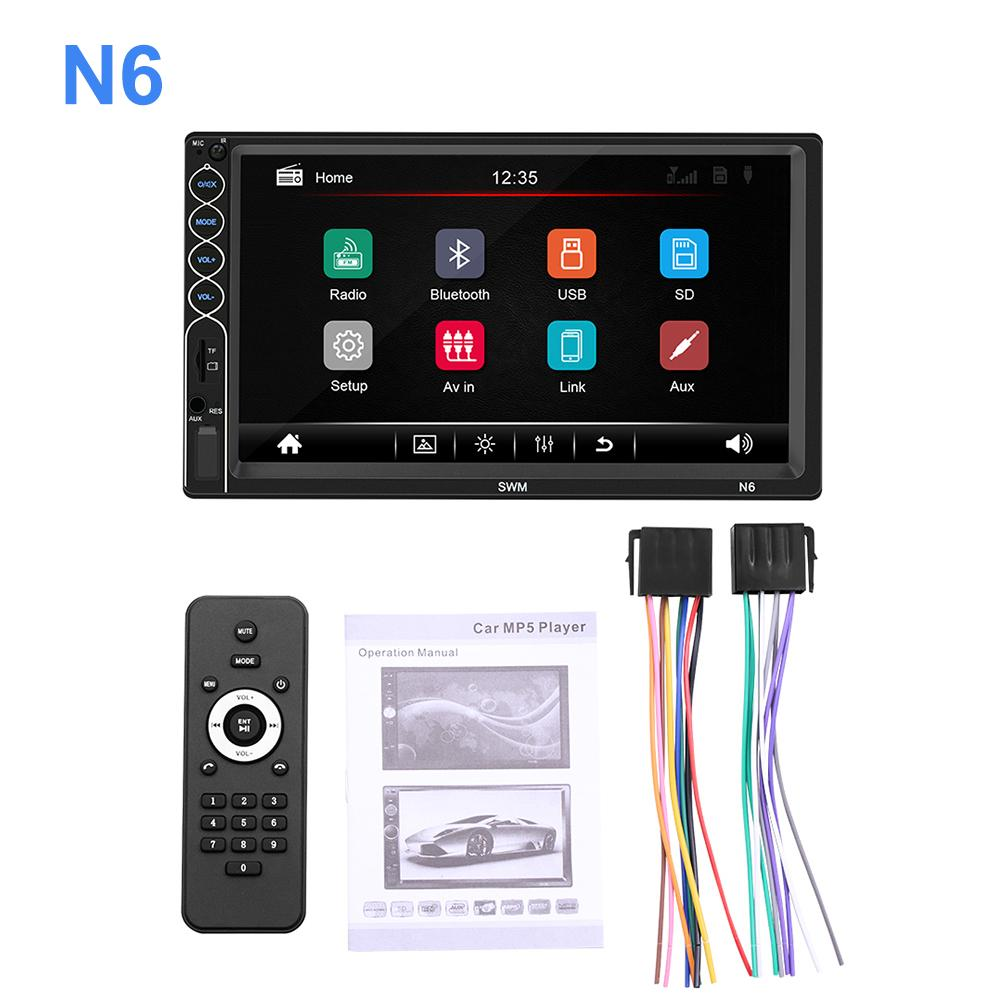 Android 2 Din Auto Multimedia Speler MP5 Speler Touch Screen Stereo Bluetooth Autoradio FM MP5 Speler Met Achteruitrijcamera camera title=