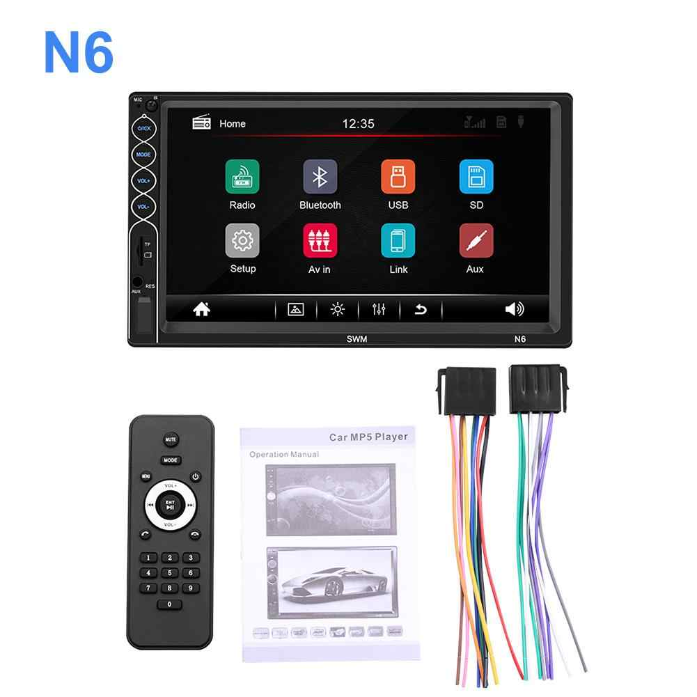 Z systemem Android samochodowy odtwarzacz multimedialny 2 din MP5 odtwarzacz ekran dotykowy Stereo samochodowy Bluetooth radio fm MP5 odtwarzacz z widokiem z tyłu kamera