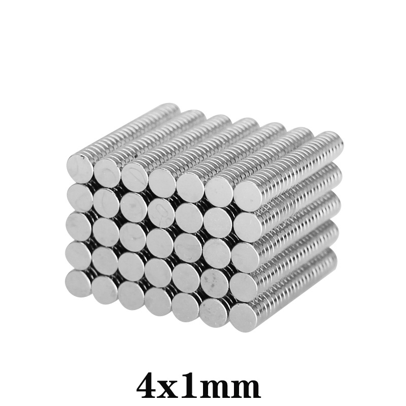 Неодимовый магнит, небольшие неодимовые магниты диаметром 4 х1 мм, постоянный диаметр 4 х1 мм, 100 ~ 5000 шт.