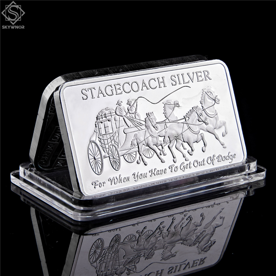 Northwest Region Territorial Mint 999 Fine Stagecoach 1/4 Ounce 999 Silver Divisible Bar|Non-currency Coins|   - AliExpress