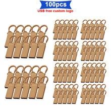 100 teile/los usb-stick 32 gb usb stick 128 gb metall usb pen drive 4 GB 8 GB 16 gb-stick 64 gb Business freies individuelles LOGO
