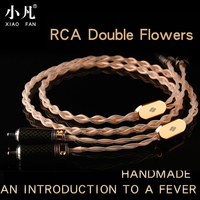 XiaoFan Handmade X018 Fever Audio Speaker Signal Cable Coaxial Cable 2 Pairs 2 RCA Audio Cable Double Lotus Cable Free Shipping