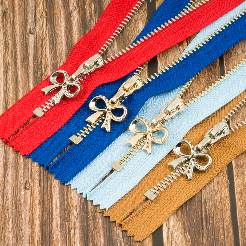2 5pcs Gold Silver 20cm Eco friendly Metal Zippers 3 Close end Zippers For Sewing Jacket Pocket Bag Garment Crafts Accessories in Zippers from Home Garden