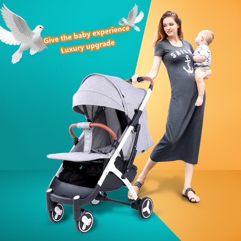 Fast Delivery! Brand Yoyaplus 3 Baby Stroller Can Be Folded And Can Sit On The Plane, Baby Umbrella, Four-wheeled Stroller