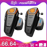 2 pcs BT S2 Pro Motorcycle Wireless Bluetooth Intercom Headsets 1000m Motorbike Headsets BT Interphone with FM Waterproof IPX6