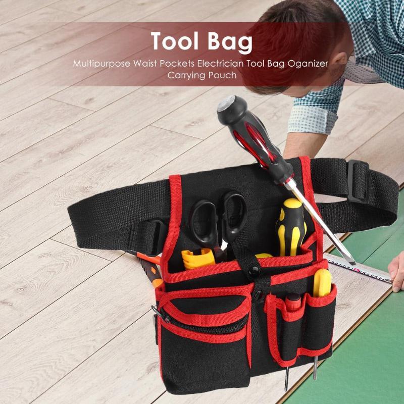 Multipurpose Waist Pockets Electrician Tool Bag Oganizer  Carrying Pouch High Capacity Tool Bag Waist Pockets