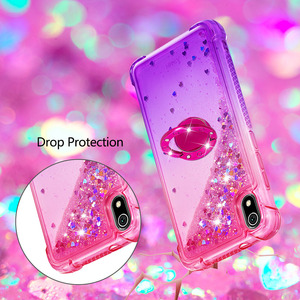 Image 2 - Newly Luxury Phone Case For Xiaomi Redmi 7A K20 K20 Pro Bling Heart Dynamic Kickstand Soft Edge TPU Bumper Back Cover Coque Gift