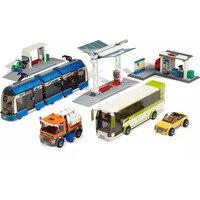 864Pcs HiLepin Building Blocks 02023 Public Transport Station Compatible 8404 few stocks with figure