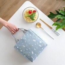 New Large Capacity Casual Tote Women Handbags Food Storage Bag Canvas Printed Portable Clutch Handbag Lady Travel Top-Handle Bag