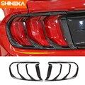 SHINEKA Lampe Hauben Für Ford Mustang 2018 Up ABS Auto Hinten Rücklicht Dekoration Schwanz Lampe Abdeckung Zubehör Für Ford Mustang