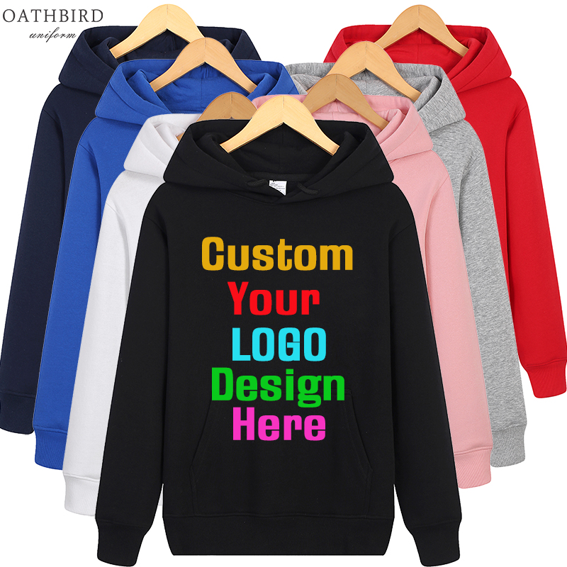 Add Your Own Text And Design Print Embroidery Custom Personalized Logo Sweater Hoodie