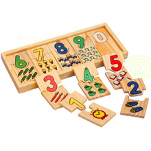 цена на 1Set Children Math Toys Preschool Counting Board  Early Education Wooden Toy Kids Educational Montessori for Baby Gift