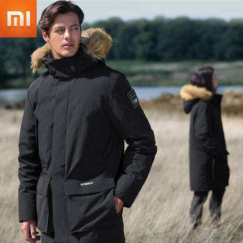 Xiaomi Warm Parka Jacket Arctic Extremely Cold Goose Down Jacket Waterproof Compass Armband Men Women Parka Hooded Cottonsmith