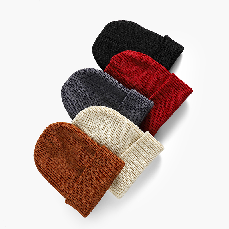 Winter Beanies Women Solid Color Warm Knitted  Cap Fenmale Men Hat Fashion Unisex Girl Autumn Casual Soft  skullies Slouchy Cap